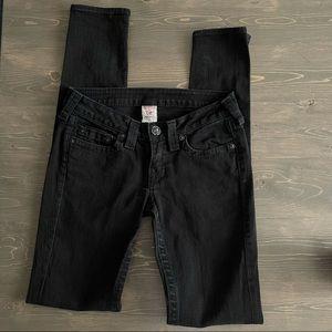 True Religion Black Skinny Jeans Size 27